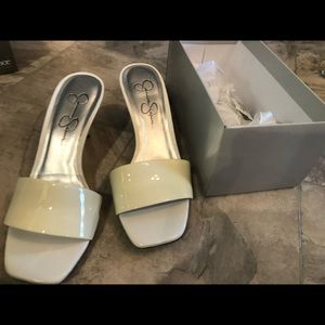 White heel sandal pinup vintage open toe shoes